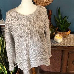 Kensie Sweater with Fabric Back